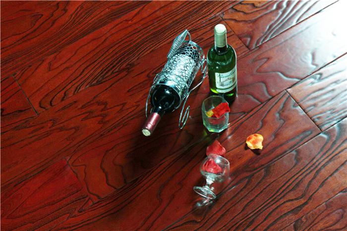 旋切榆木-深红色-浮雕-0133